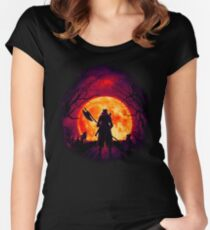 A Blood Moon's Night (Bloodborne) Women's Fitted Scoop T-Shirt