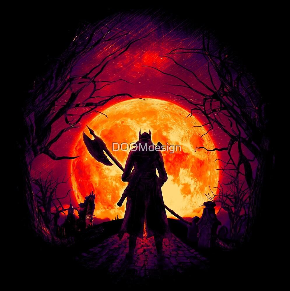 A Blood Moon's Night (Bloodborne) by DOOMdesign