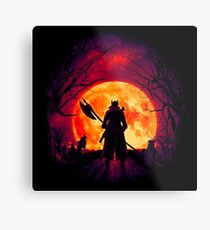 A Blood Moon's Night (Bloodborne) Metal Print