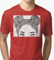 Girl face Tri-blend T-Shirt