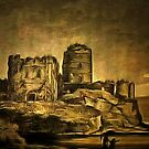 An oldstyle digital painting of Pembroke Castle 1803 by Dennis Melling
