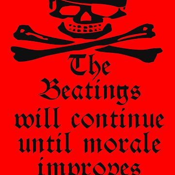 Pirate, Morale, Skull & Crossbones, Jolly Roger, Buccaneers, Me Harties! on RED by TOMSREDBUBBLE