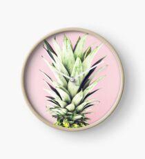 Ananas auf Rosa, Ananas-Top, Minimal Uhr