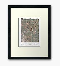 USGS TOPO Maps Iowa IA Red Oak North 20100525 TM Framed Print