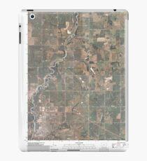 USGS TOPO Maps Iowa IA Red Oak North 20100525 TM iPad Case/Skin