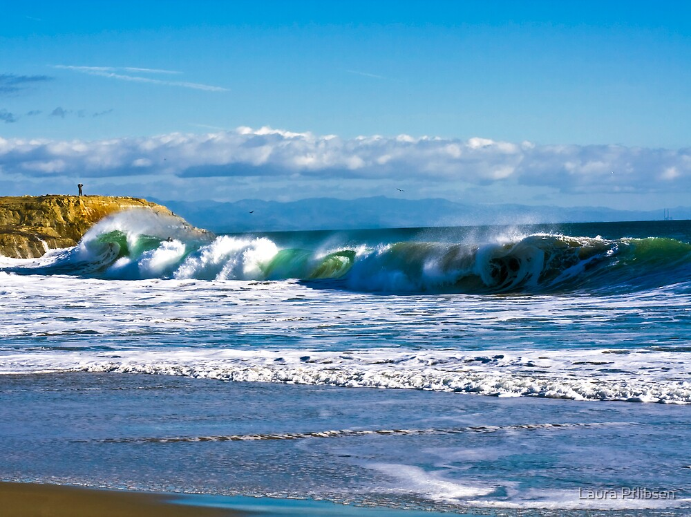 The Wave - in Santa Cruz by Laura Pflibsen