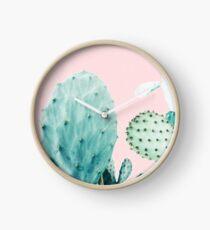Cactus, Cactus, Impression de cactus, Art de Cactus, Désert, Nature, Plante, Minimaliste, Moderne Horloge