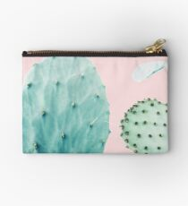 Cacti, Cactus, Cacti print, Cactus art, Desert, Nature, plant, Minimalist, Modern Studio Pouch