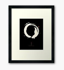 Black Ensō / Japanese Zen Circle Framed Print