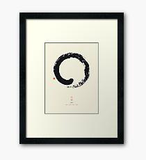 Ensō / Japanese Zen Circle Framed Print