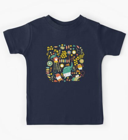 tennis on teal Kids Clothes