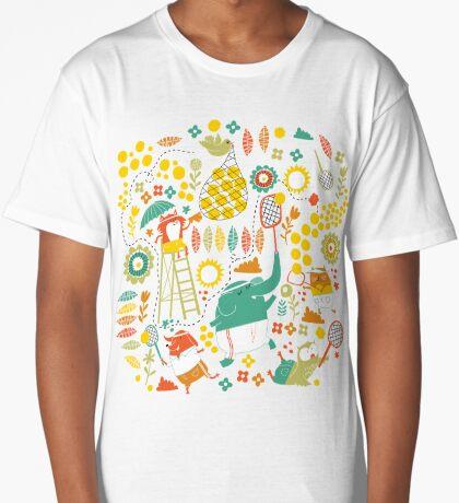 tennis on teal Long T-Shirt