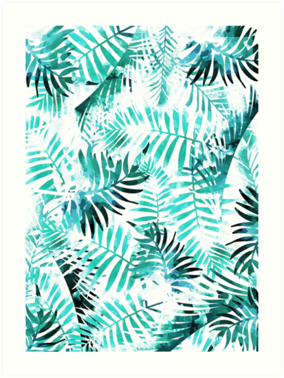 """Palm leaves, Tropical print, Pattern, Print, Tropical ..."