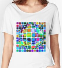 Disco bowl Vibrant seamless fabric design Women's Relaxed Fit T-Shirt
