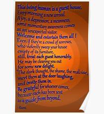 A favorite RUMI poem Poster