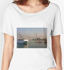 Cruise Ship Into Industrial Area Women's Relaxed Fit T-Shirt