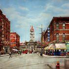 City - Denver Colorado - Welcome to Denver 1908 by Mike  Savad