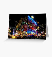 A December Evening at Macy's  Greeting Card