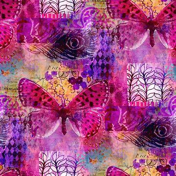 Butterflies Dream In Pink  by KirstenStar