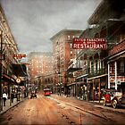 City - New Orleans - A look at St Charles Ave 1910 by Mike  Savad