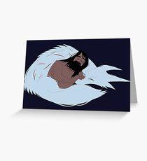 Samurai Jack and Wolf Greeting Card