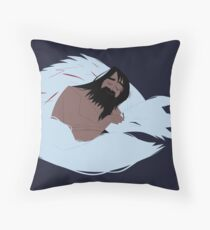 Samurai Jack and Wolf Throw Pillow