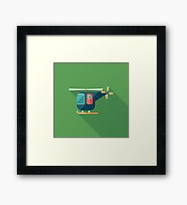 Civilian Helicopter Framed Print