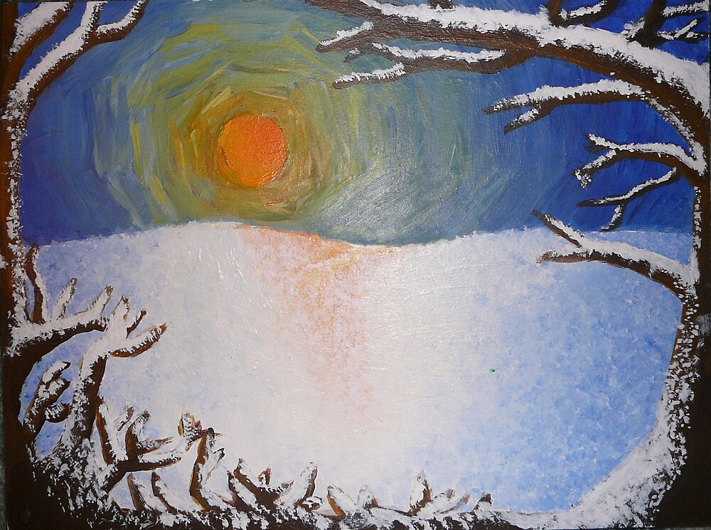 Winter Sunset by sara2442
