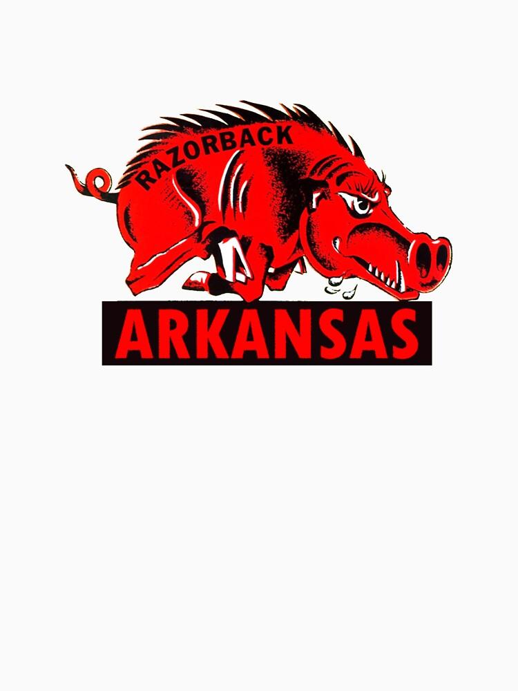 Arkansas Razorback Vintage Travel Decal by hilda74