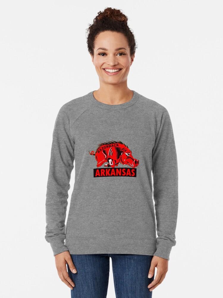 Alternate view of Arkansas Razorback Vintage Travel Decal Lightweight Sweatshirt