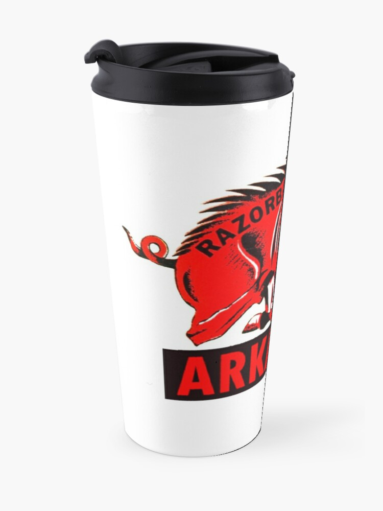 Alternate view of Arkansas Razorback Vintage Travel Decal Travel Mug
