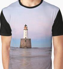Lighthouse Sunset Graphic T-Shirt