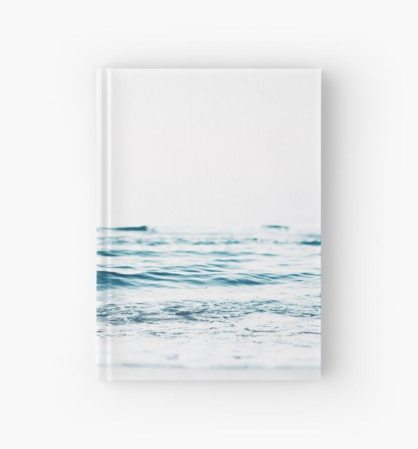 Cuadernos de tapa dura «Paisaje, Agua azul, Impresión escandinava ...