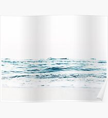 Landscape, Blue water, Scandinavian print, Nordic, Wall art, Wall decor, Sea, Ocean, Minimalist Poster
