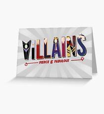 Villains Greeting Card