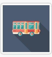 Toy Retro Bus Sticker