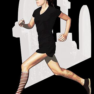 run like a goth by IanByfordArt