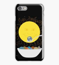 Sun Eating a Bowl of Planets for Breakfast iPhone Case/Skin