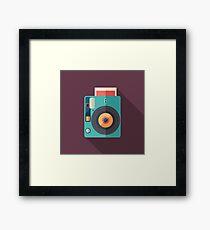 Hipster Instant Camera Framed Print