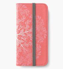 cherry blossom mandala- Coral sakura iPhone Wallet/Case/Skin
