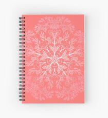 cherry blossom mandala- Coral sakura Spiral Notebook