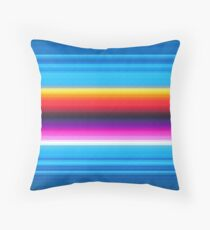 Sea side - Mexican Poncho Background Throw Pillow