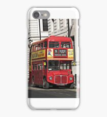 Vintage Red London Bus iPhone Case/Skin