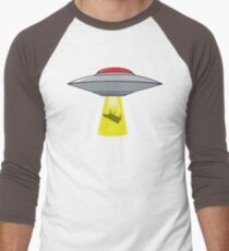 Martians Want Milk & Burgers! Men's Baseball ¾ T-Shirt