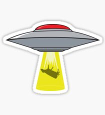 Martians Want Milk & Burgers! Sticker