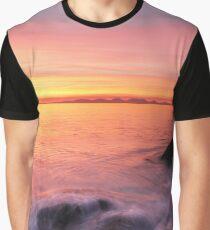 Kintyre Rocky Coast Sunset  Graphic T-Shirt