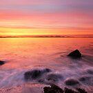 Kintyre Rocky Coast Sunset  by Grant Glendinning