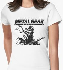 Metal Gear Solid: Ghost Babel - Title Screen Pixel Art  Womens Fitted T-Shirt