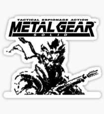 Metal Gear Solid: Ghost Babel - Title Screen Pixel Art  Sticker