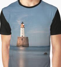 Lighthouse Twilight Graphic T-Shirt